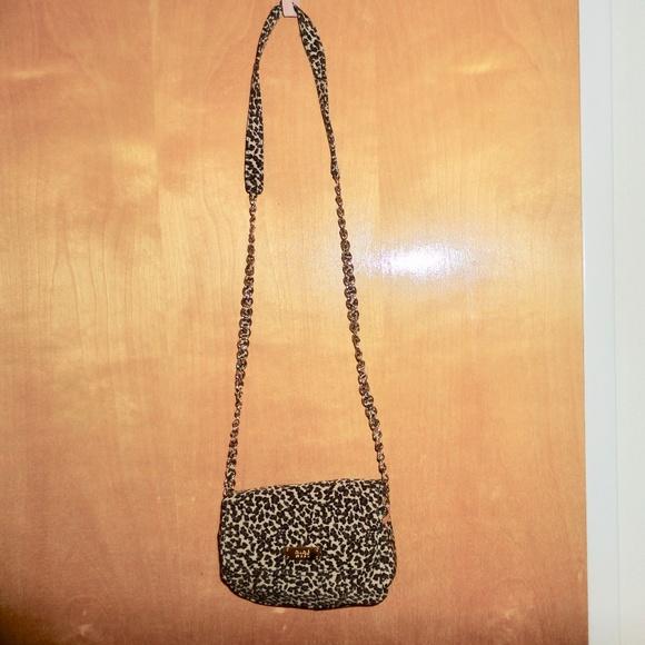 Nine West Handbags - NIne West Long Leopard Print Chain Purse Bag